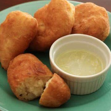 Russian Potato Piroshki with Garlic Dip – Пирожки, Friday Night Snacks and More...