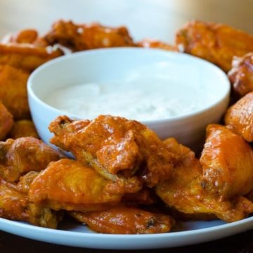 Baked BBQ Wings with Blue Cheese Dip, Friday Night Snacks and More...
