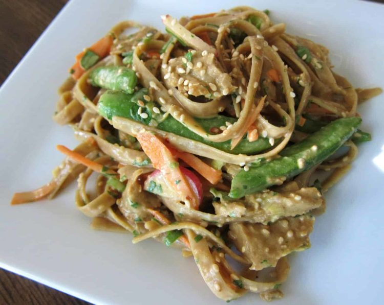 Spicy Thai Peanut Noodles with Chicken Style Seitan, Friday Night Snacks and More...