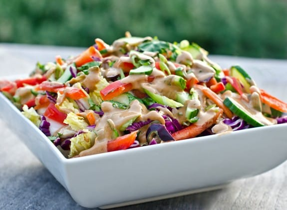 Thai Crunch Salad with Optional Peanut Dressing, Friday Night Snacks and More...