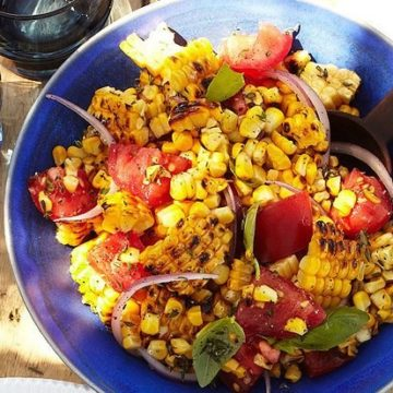 Pan-Roasted Corn with Cherry Tomatoes, Friday Night Snacks and More...