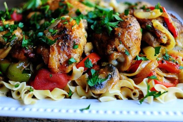 Pressure Cooker Chicken Cacciatore, Friday Night Snacks and More...