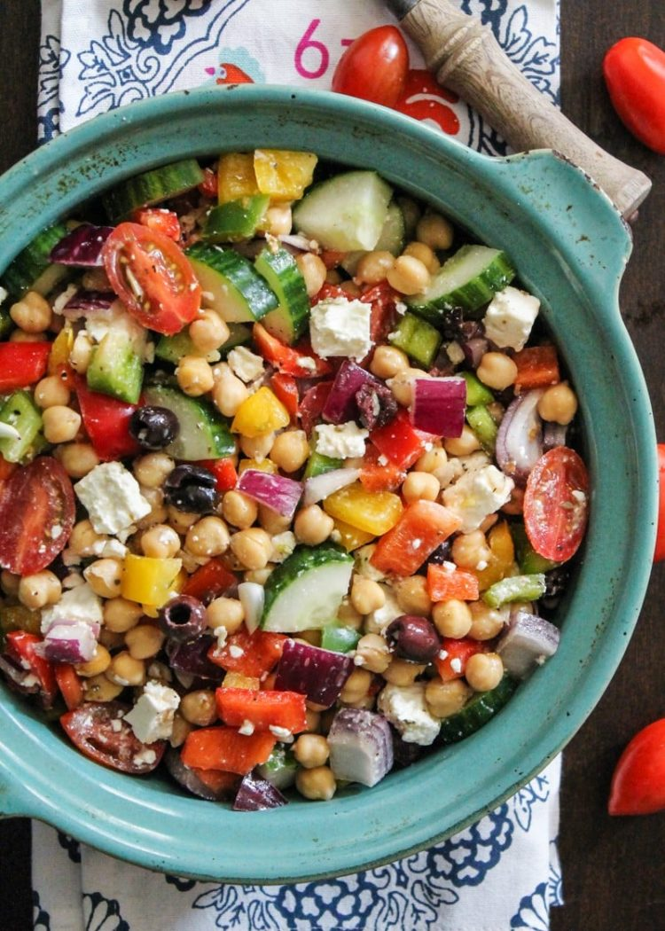 Chickpea Salad with Red Onion and Tomato, Friday Night Snacks and More...