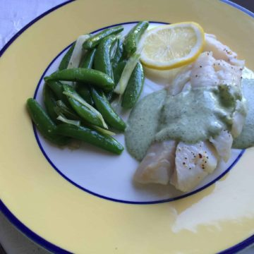 Cod Fillets With Cilantro Yogurt Sauce, Friday Night Snacks and More...