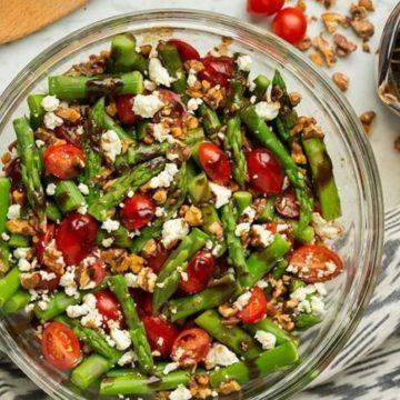 Asparagus, Tomato and Feta Salad with Balsamic Vinaigrette, Friday Night Snacks and More...