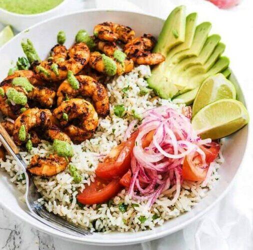 Peruvian Shrimp Bowl, Friday Night Snacks and More...
