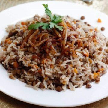 Lentils & Rice – Mujaddara, Friday Night Snacks and More...