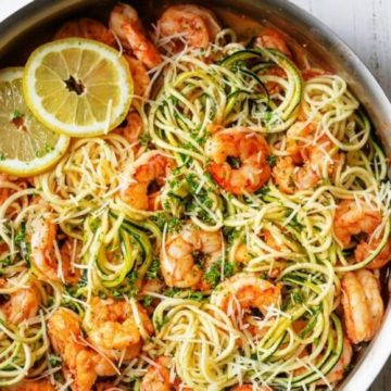 Shrimp and Vegetable Scampi with Noodles, Friday Night Snacks and More...