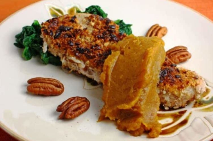 Pecan-Crusted Pork with Pumpkin Butter, Friday Night Snacks and More...