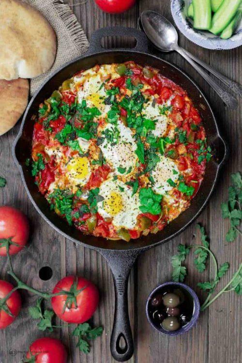 Shakshuka Eggs with Feta, Friday Night Snacks and More...
