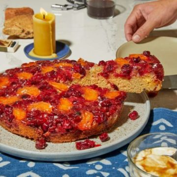 Cranberry Upside-Down Cake, Friday Night Snacks and More...