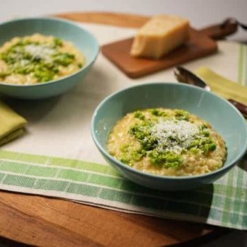 Muddled Pea and Sweet Onion Risotto, Friday Night Snacks and More...
