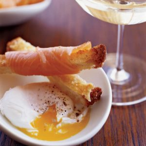 Poached Eggs with Parmesan and Smoked Salmon Toasts, Friday Night Snacks and More...