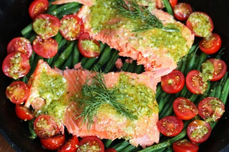 Salmon Milano with Pesto Butter, Friday Night Snacks and More...
