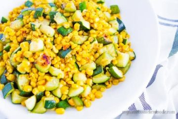 Sauted Corn And Zucchini