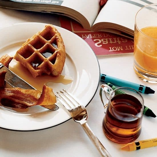 Cornmeal Waffles, Friday Night Snacks and More...