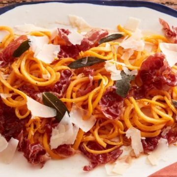 Butternut Squash Noodles with Prosciutto and Sage, Friday Night Snacks and More...