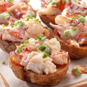 Lobster Salad Stuffed Potato