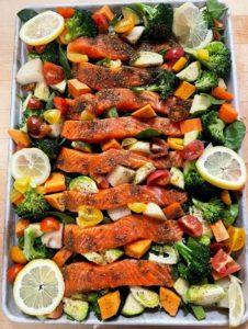 roasted salmon with zaatar and coriander