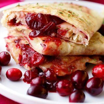 cranberry turkey quesadillas