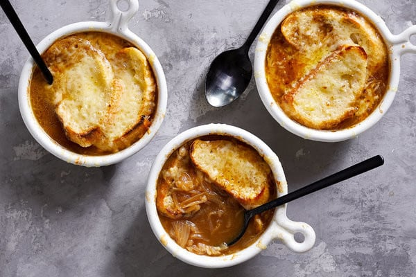 Classic French Onion Soup, Friday Night Snacks and More...