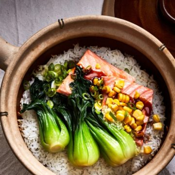 Ginger Crispy Rice with Salmon and Bok Choy, Friday Night Snacks and More...