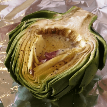 Grilled Artichokes with Garlic Butter, Friday Night Snacks and More...