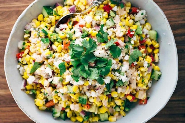 Mexican Street Corn Salad with Chipotle Dressing, Friday Night Snacks and More...