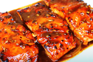 carmelized salmon