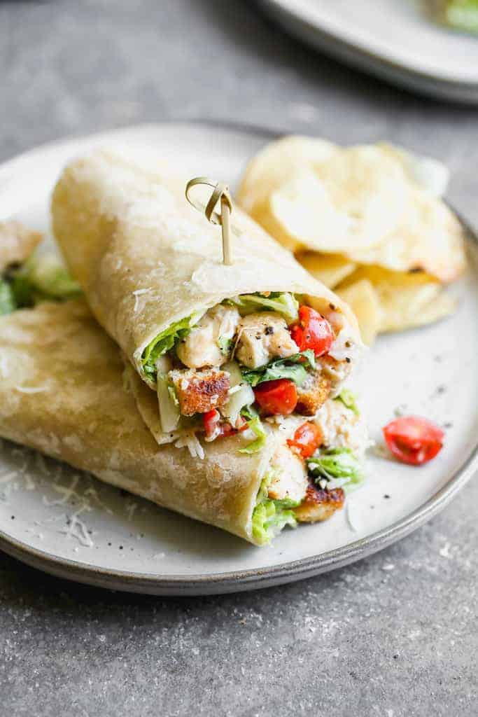 Chicken Caesar Salad Wrap, Friday Night Snacks and More...