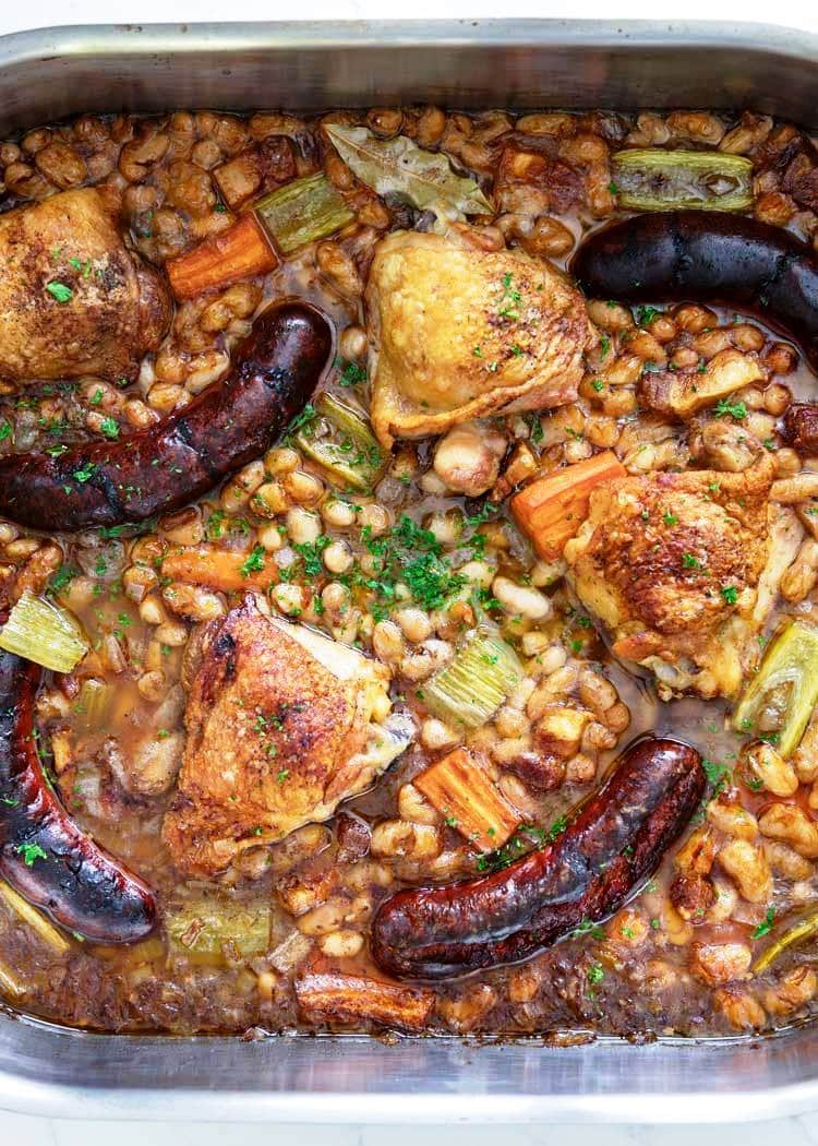 Chicken and Sausage Cassoulet, Friday Night Snacks and More...