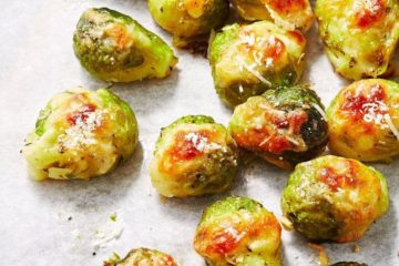 smashed brussel sprouts